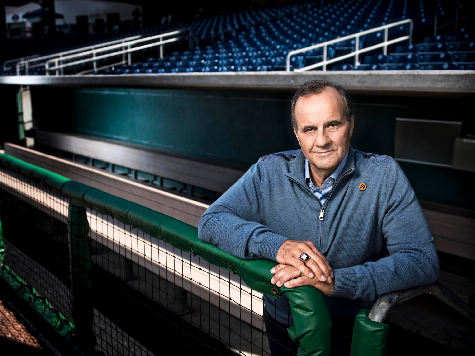 Joe Torre by professional photographer Michael Grecco