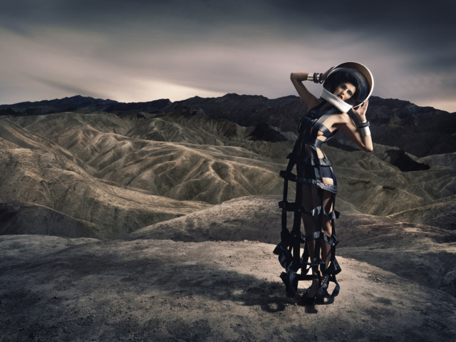 Syrian model Houda Shretah Hasselblad by fashion photographer Michael Grecco