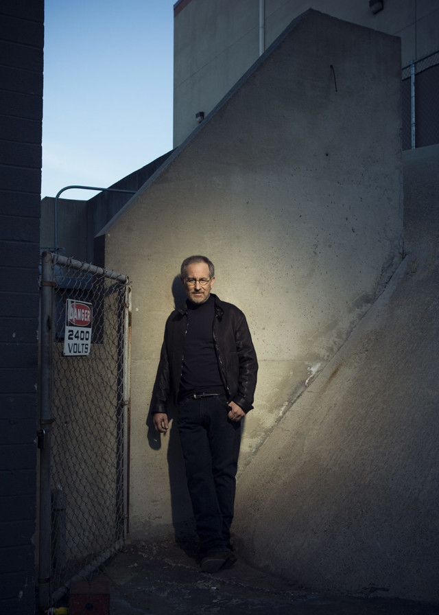 Steven Spielberg by celebrity photographer Michael Grecco