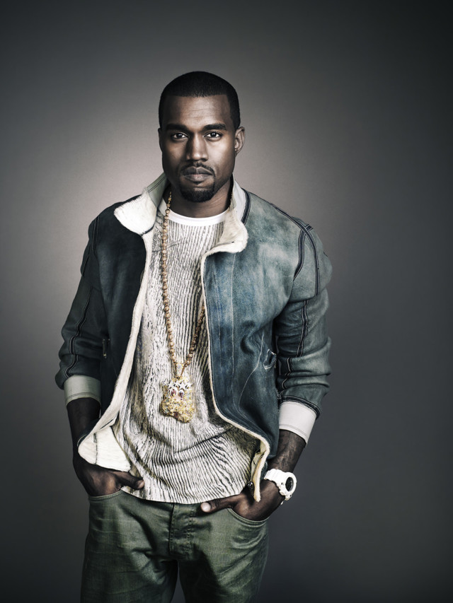 Kayne West by celebrity photographer Michael Grecco