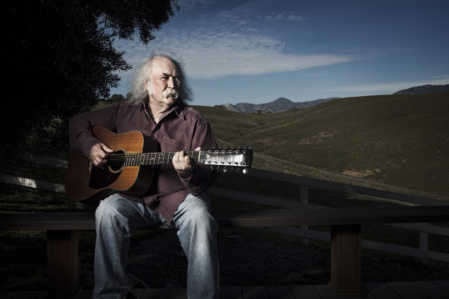 David Crosby by celebrity photographer Michael Grecco