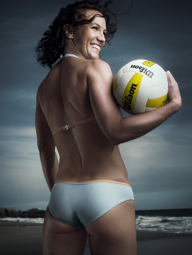AVP Leanne Schuster McSorley by sports photographer Michael Grecco