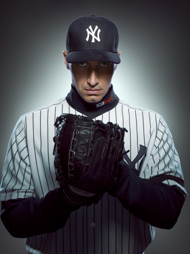 Andy Pettitte by sports photographer Michael Grecco