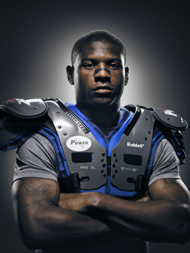LaDainian Tomlinson by sports photographer Michael Grecco