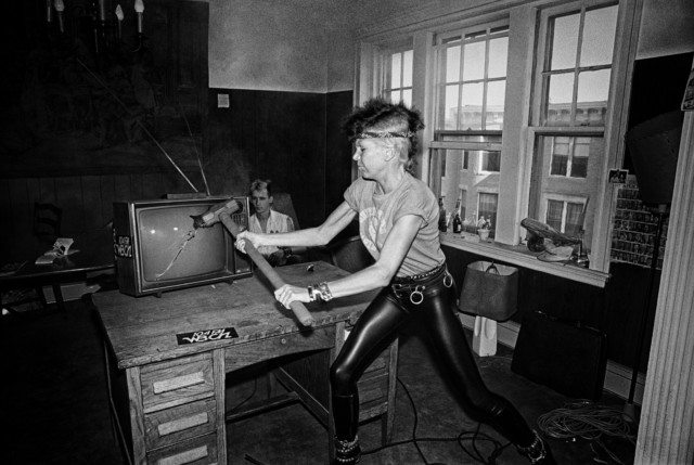 Wendy O Williams punk rock chick in book by music photographer Michael Grecco
