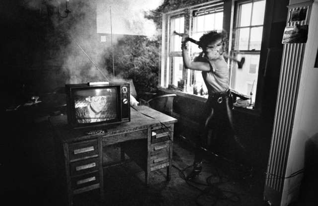 Punk rock culture icon Wendy O Williams in a book by music photographer Michael Grecco