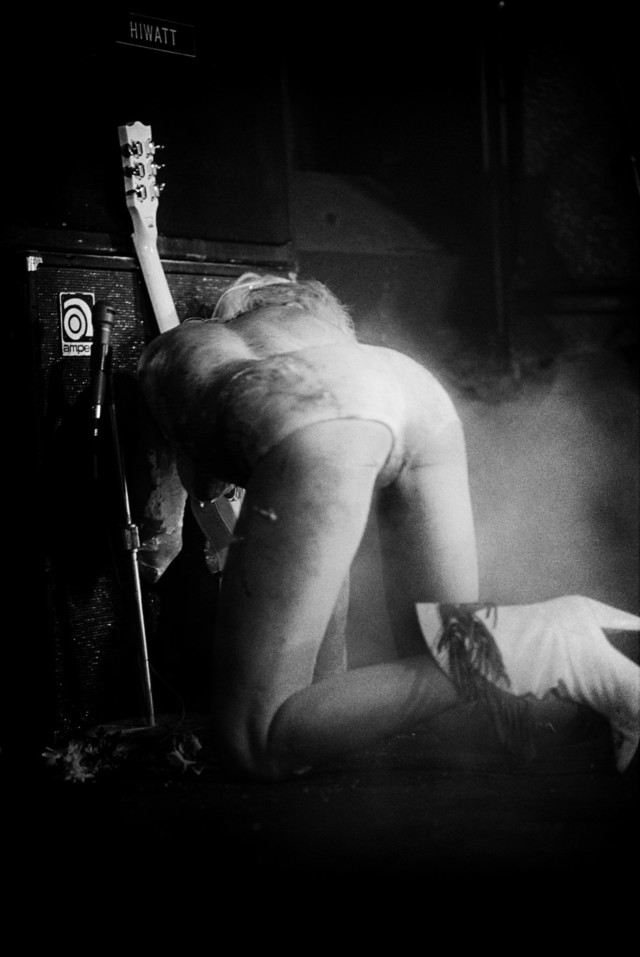 Wendy O Williams on stage in Punk book by music photographer Michael Grecco