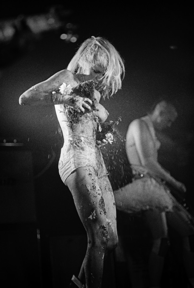 Classic punk rocker Wendy O Williams naked on stage