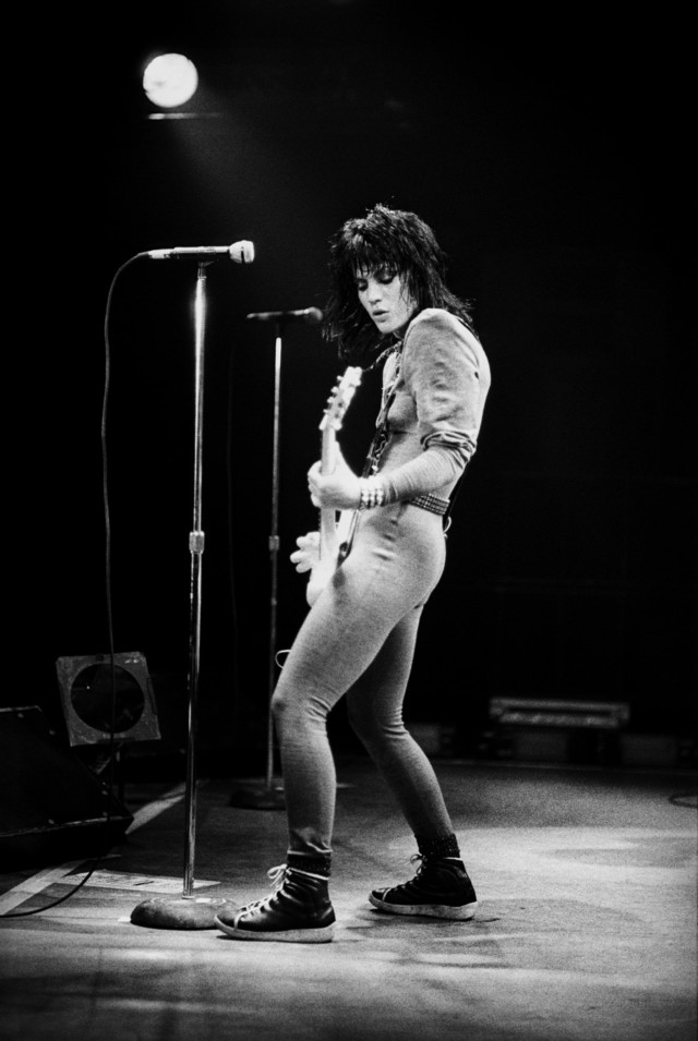 Punk rock icon Joan Jett live on stage