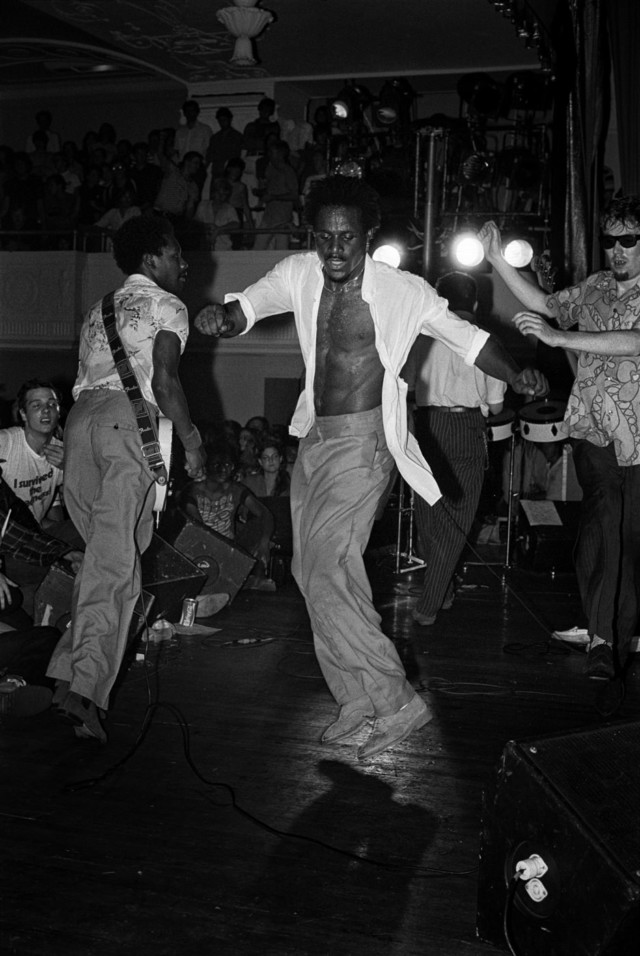 The Specials on stage in Punk book by music photographer Michael Grecco