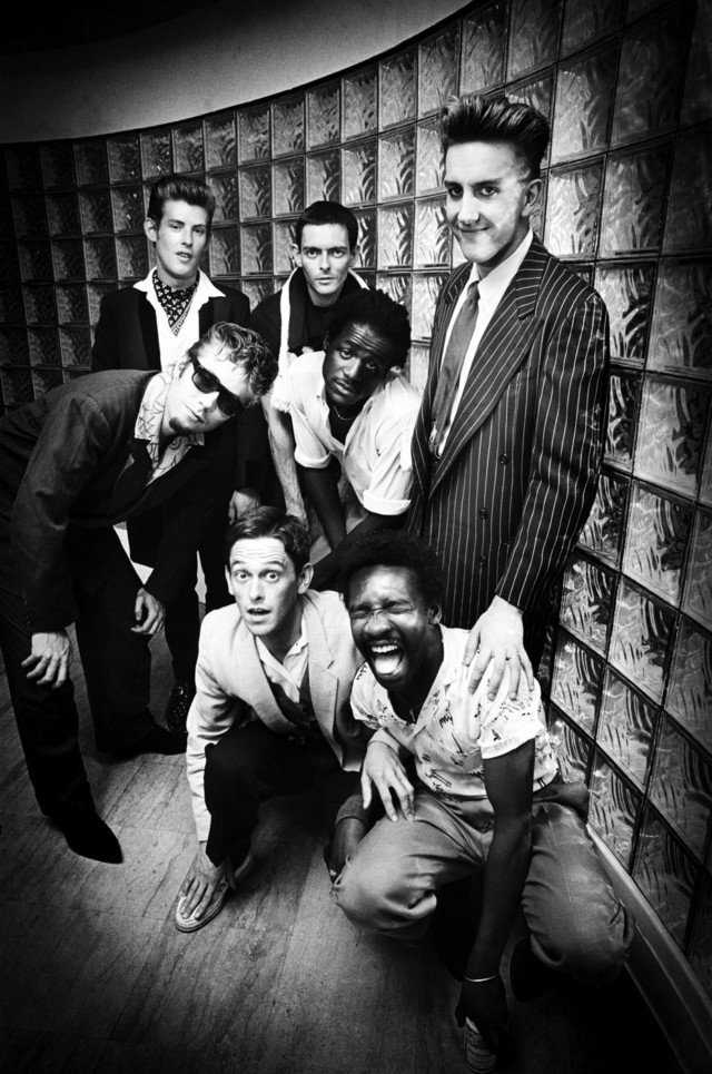 Ska band The Specials back stage