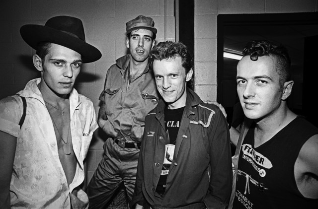 Punk Rockers The Clash Back Stage in Boston