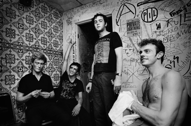 English punk rock band Killing Joke back stage