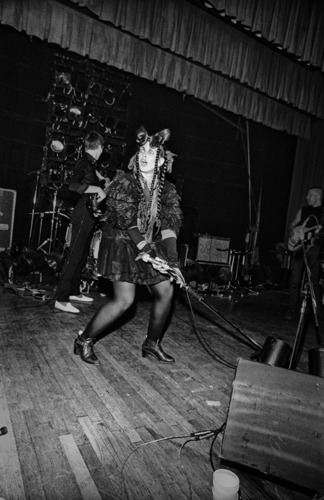Lene Lovich on stage in Punk book by music photographer Michael Grecco