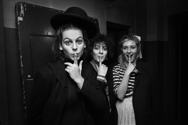 Ground breaking Punk Girl Band The Slits back stage