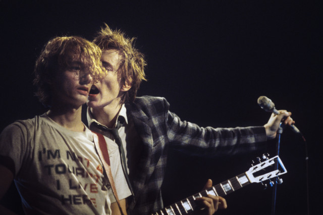 Johnny Rotten and Sid Vicious of PIL #2, Flanders, NJ, 1982