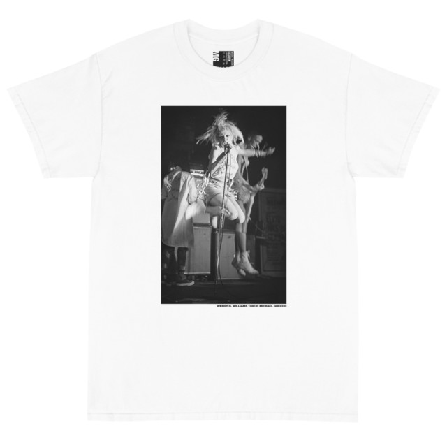 Wendy O. Williams of the Plasmatics Jumping T Shirt (White)